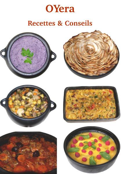 livret de recettes et conseils d'utilisation des poteries culinaires Oyera